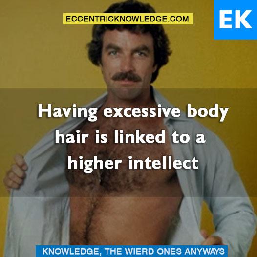 Intelligence Body Hair Having Excessive Body Hair is